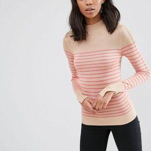 NWOT Striped soft yarn turtleneck